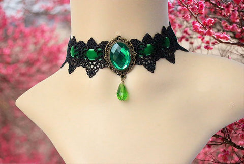 Image of Victorian Crystal Tattoo Choker