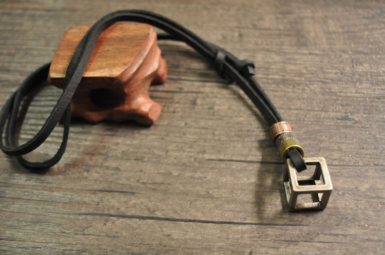 Leather Steampunk Box Necklace - Hello Moa