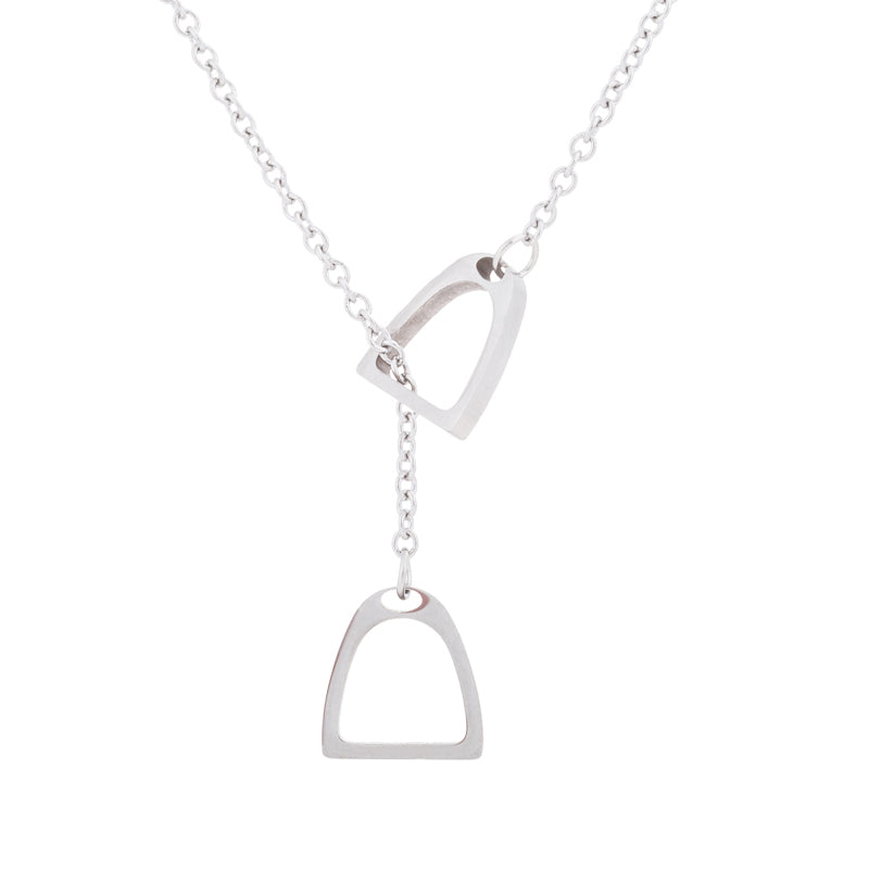 Double Horse Shoe Charm Necklace - Hello Moa