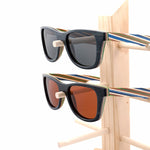 Striped Wooden Sunglasses - Hello Moa