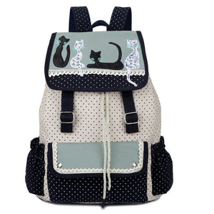 Canvas Cat Backpack - Hello Moa