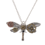 Steampunk Dragon Fly Necklace - Hello Moa