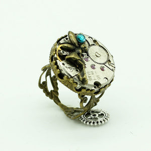 Steampunk Mechanical Watch Movement Ring - Hello Moa