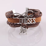 Horse Love Leather Bracelet - Hello Moa