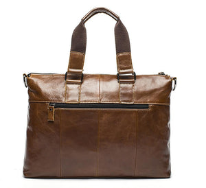 Genuine Leather Briefcase - Hello Moa