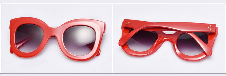 Vintage Big Frame Sunglasses - Hello Moa