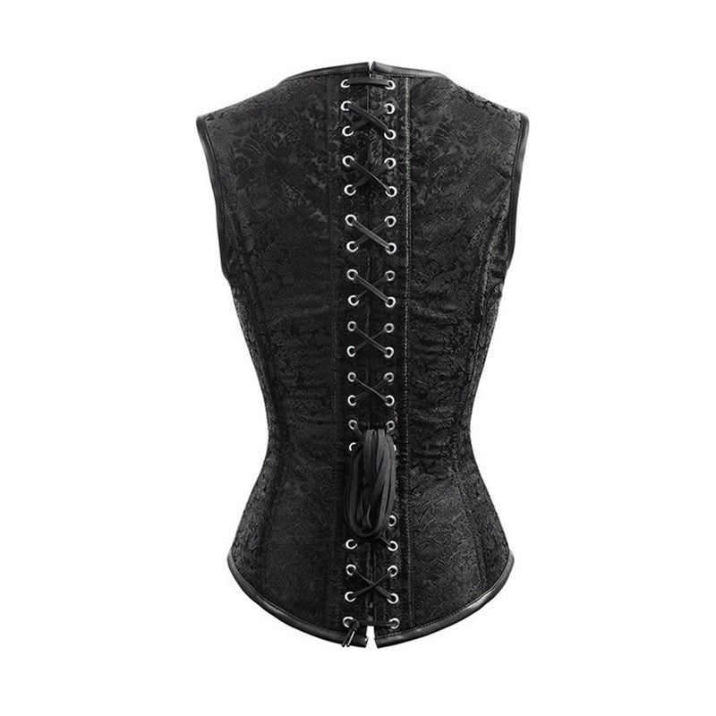 Steel Boned Buckle Corset - Hello Moa