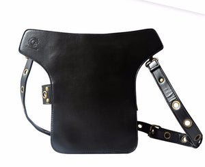 Leather Steampunk Mini Waist Bag