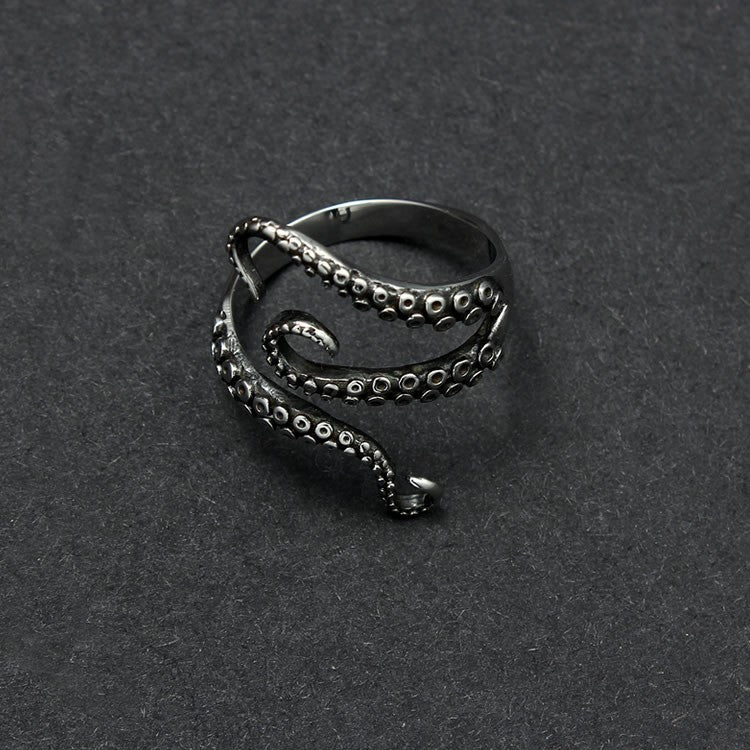 Octopus Titanium Ring - Hello Moa