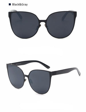 Oversize Cat Eyes Sunglasses - Hello Moa