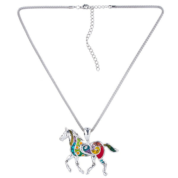 Rainbow Horse Necklace