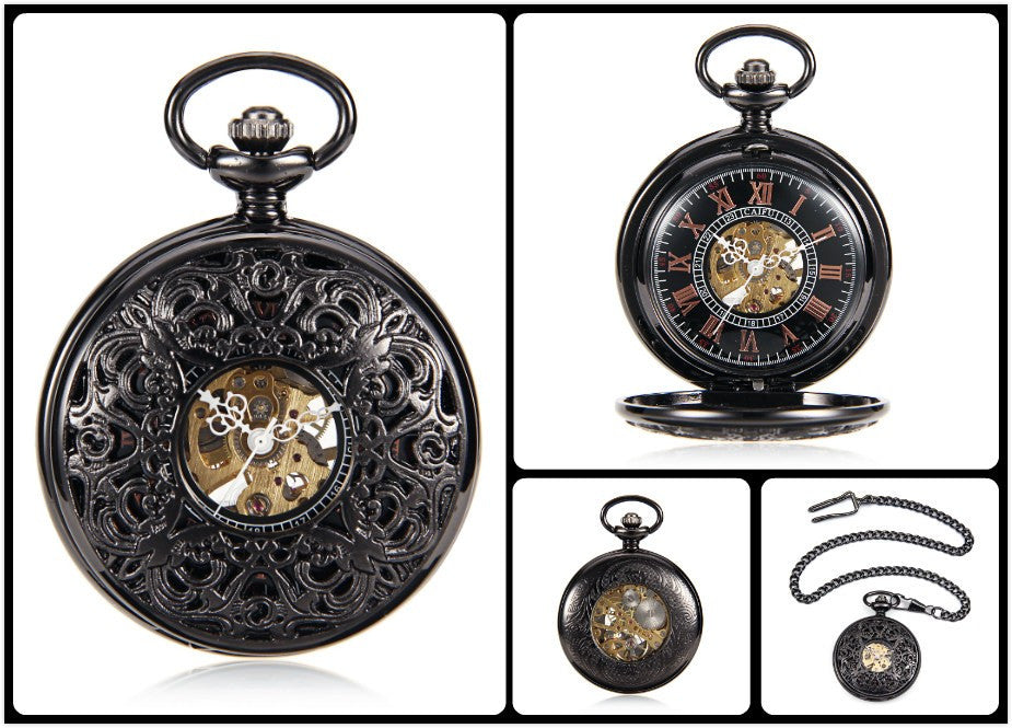 "The ""Mechanical Night"" Pendant/Pocket Watch - Hello Moa"