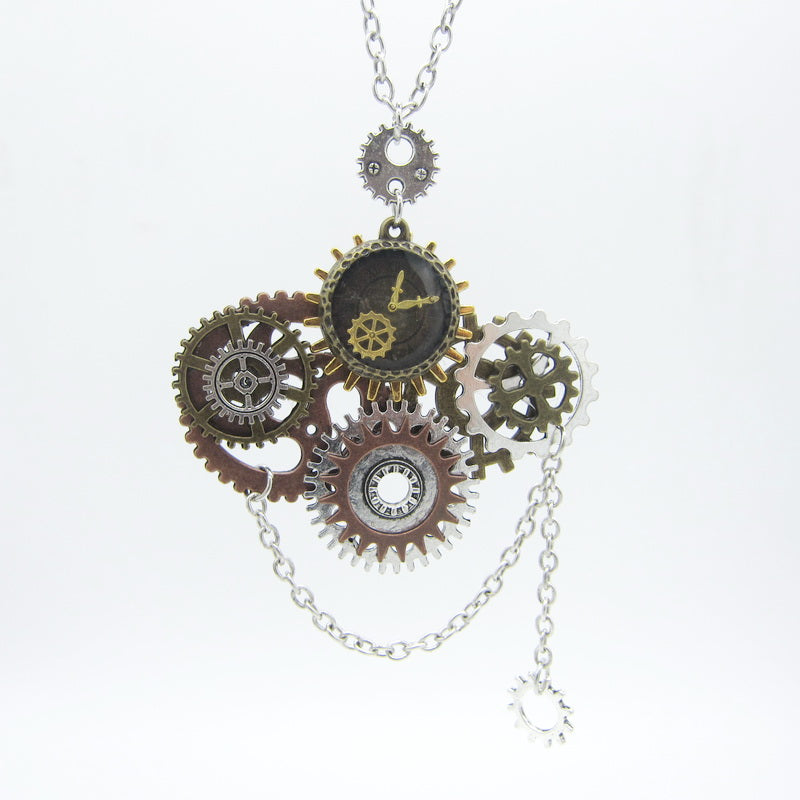 Multi-Gears Steampunk Necklace