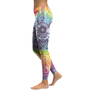 Red & Blue Mandala Leggings