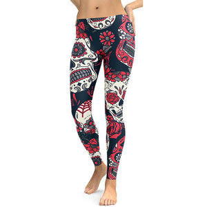 Classic Sugar Skull Leggings - Hello Moa
