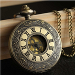 Steampunk Retro Bronze Pocket Watch - Hello Moa