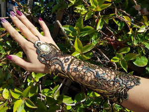 Steampunk Style Lace Finger-less Long Glove