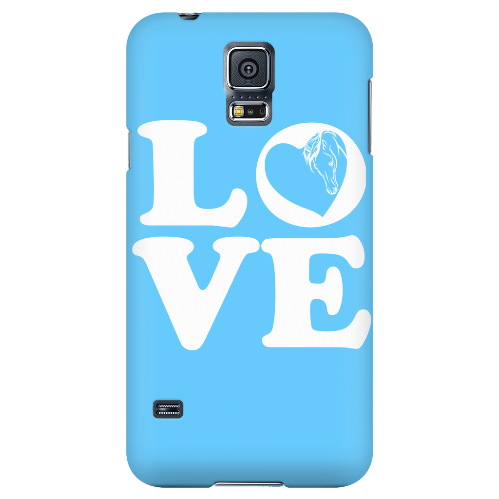 Blue - Horse Love Cell Phone Case