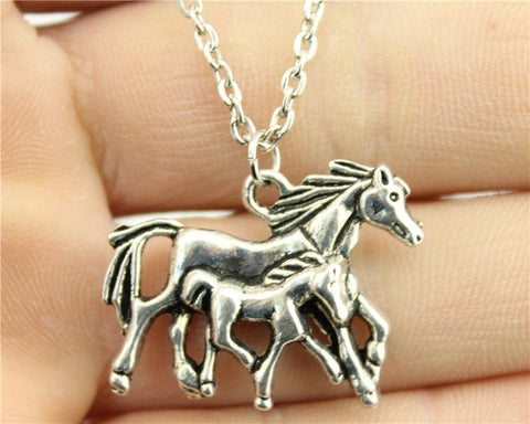 Antique Silver Horse Necklace Offer