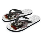 Antique Sugar Skull Flip Flops - Hello Moa