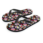 Colorful Sugar Skull Flip Flops - Hello Moa
