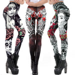 """Day of the Dead"" Leggings - Hello Moa"