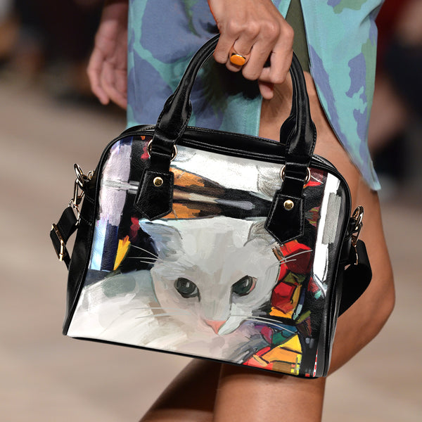 Art VIII Cat Shoulder Handbag