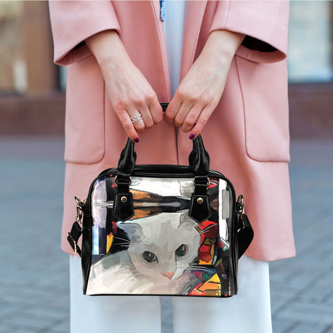 Image of Art VIII Cat Shoulder Handbag