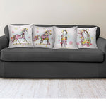Watercolor Horse Pillow Covers