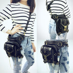 Leather Steampunk Mini Waist Bag - Hello Moa