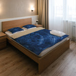 Blue Dial Bedding Set