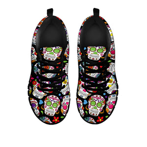 Colorful Sugar Skull Sneakers - Hello Moa