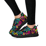 Pink & Blue Sugar Skull Sneakers - Hello Moa