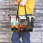 Art Cat II Leather Tote Bag
