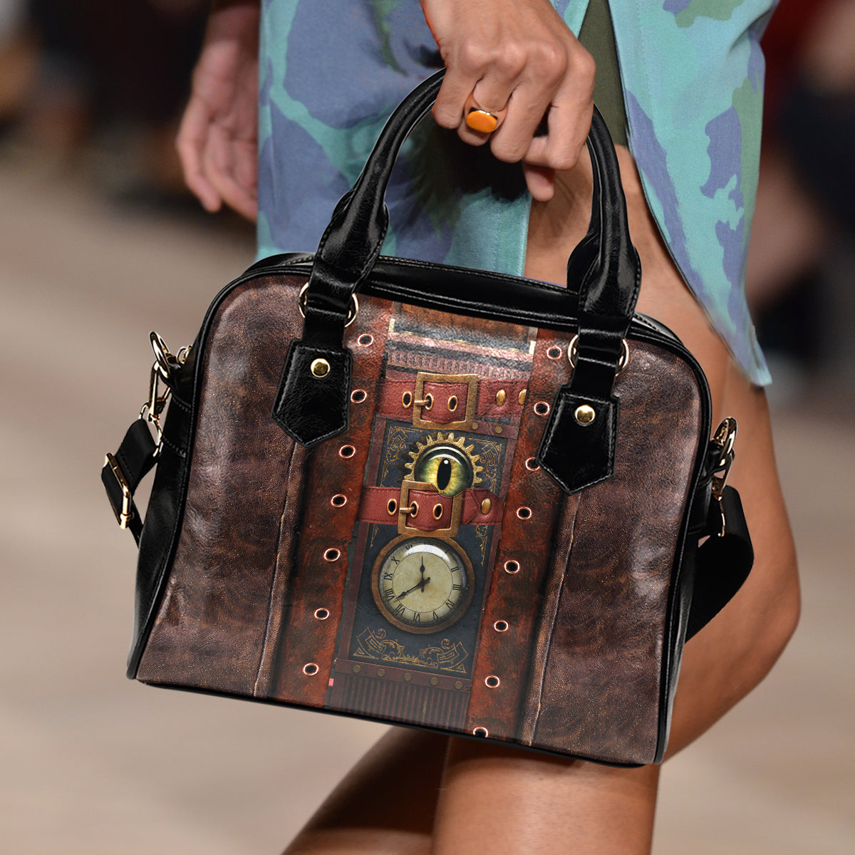 Clock & Eye Steampunk Handbag