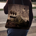 Steampunk Balloon Ship Cloth Tote Bag - Hello Moa