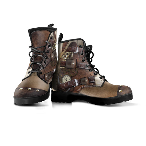 Steampunk Buckled Boots