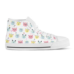 Cats & Birds Canvas Shoes - Hello Moa