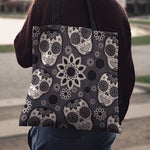 Black Skull Cloth Tote Bag - Hello Moa
