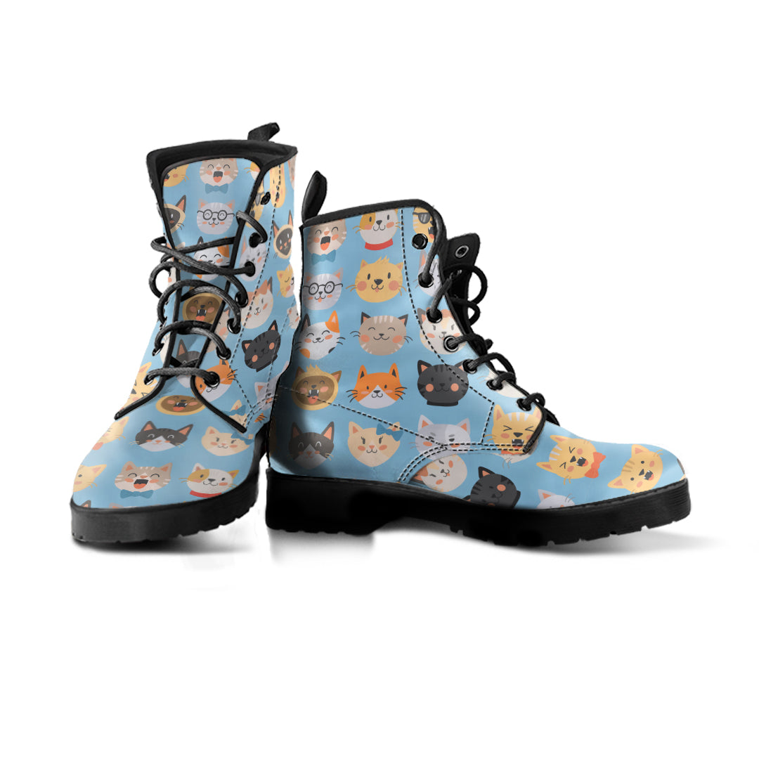 Cute Cat Faces Boots (Women's) - Hello Moa
