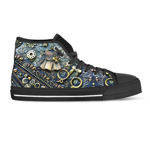 Steampunk Bobbin High Cut Shoes - Hello Moa