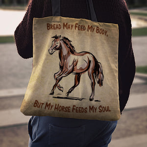 Body & Soul Horse Cloth Tote Bag - Hello Moa
