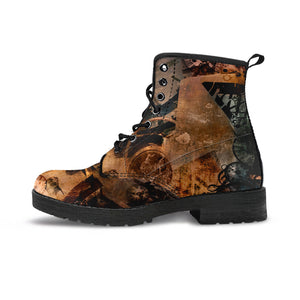 Steampunk Art Boots - Hello Moa