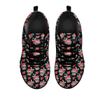 Black & Red Sugar Skull Sneakers - Hello Moa