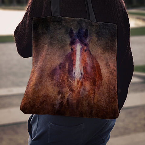 Brown Horse Cloth Tote Bag