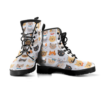 Adorable Cat Faces Boots (Women's)