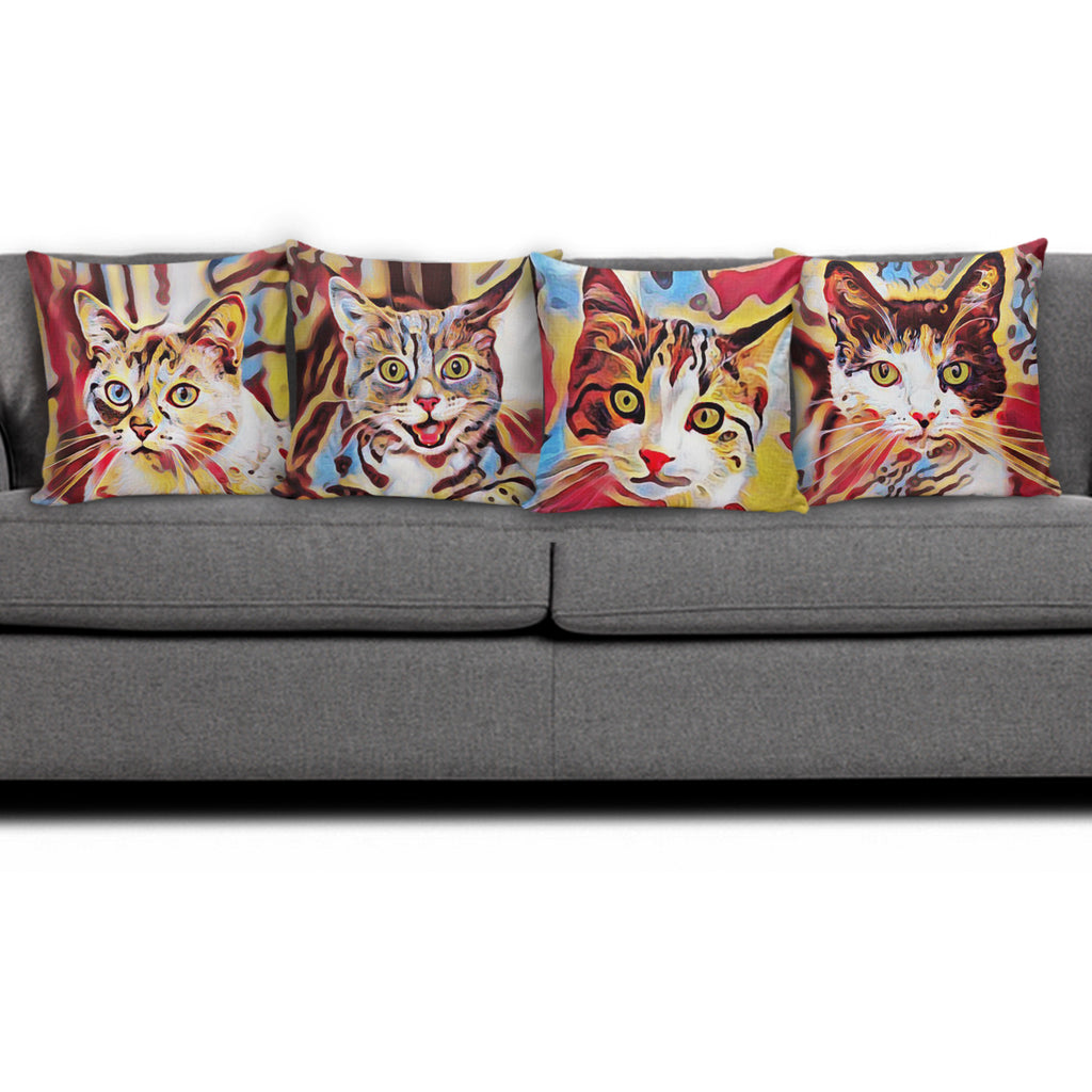 Art III Cat Pillows