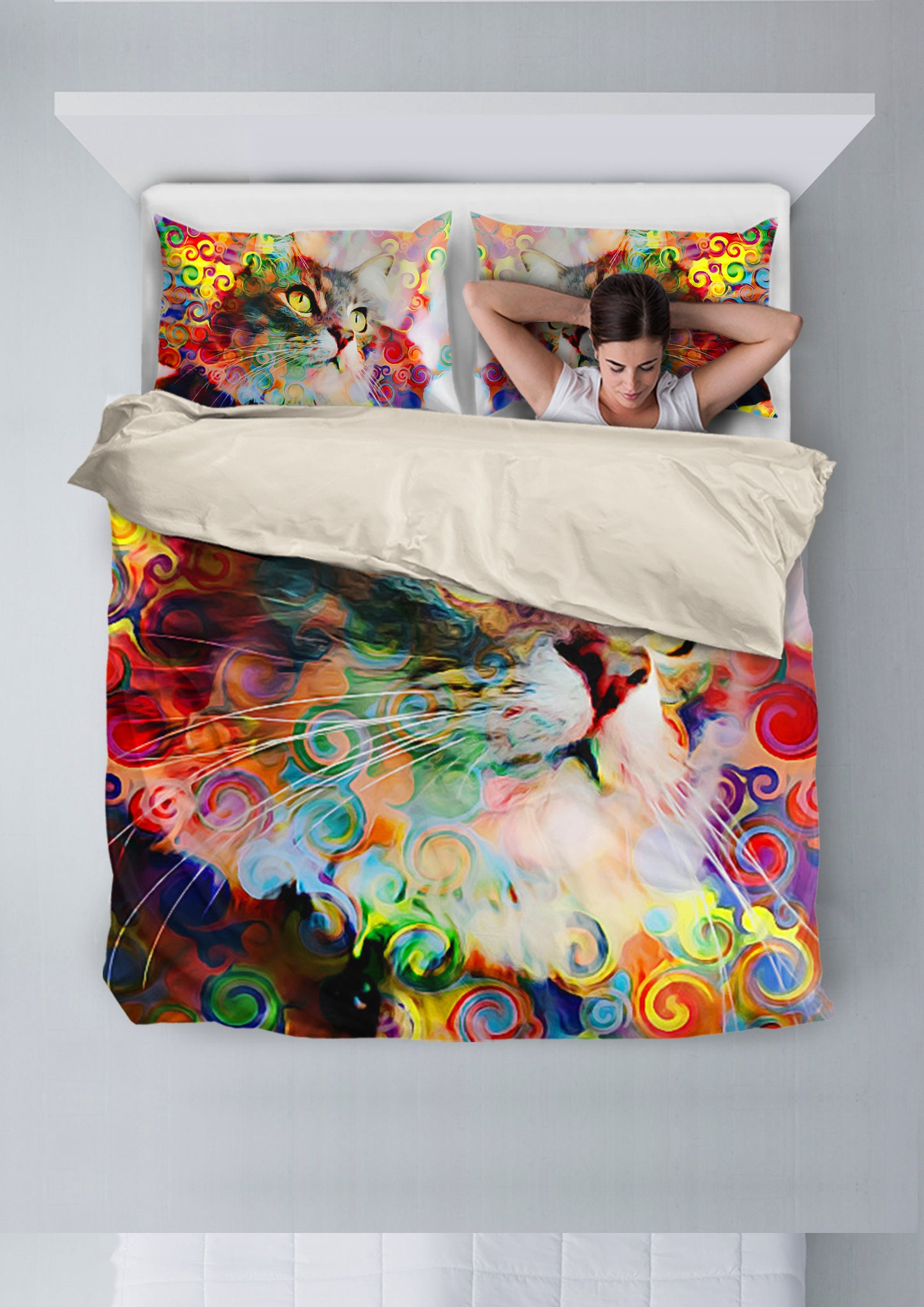 Rainbow Cat Bedding Set