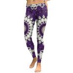 Purple & White Mandala Leggings