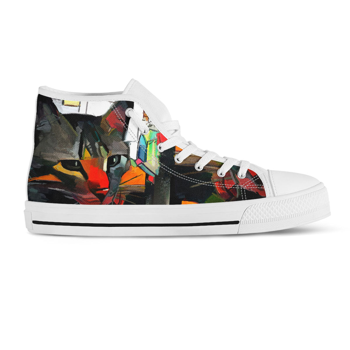 Cat Art II Canvas Shoes (Women's) - Hello Moa